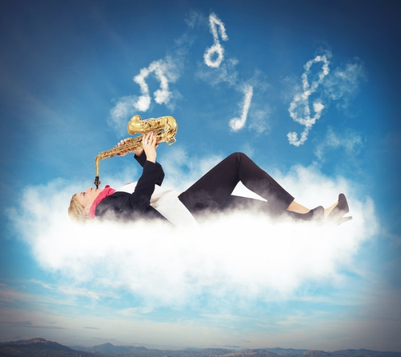 Music in clouds